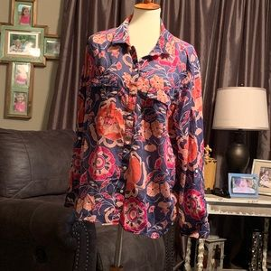 Gap floral print shirt